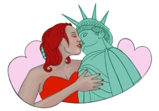 """Liberty Loves: Kisses"" by Firegnat"